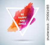 motivation triangle watercolor... | Shutterstock .eps vector #293061485