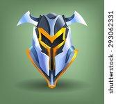 knight's steel helmet. vector...