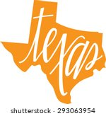 texas state outline and hand... | Shutterstock .eps vector #293063954