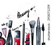 vector watercolor glamorous... | Shutterstock .eps vector #293071259