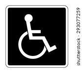 Disabled Sign On Black...