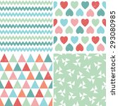 vector set of seamless hipster... | Shutterstock .eps vector #293080985