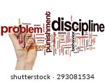 Small photo of Discipline concept word cloud background