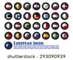 set of camera lens with... | Shutterstock .eps vector #293090939