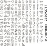 black medical icon set | Shutterstock .eps vector #293092757