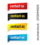 contact us speech bubble   web... | Shutterstock .eps vector #293094005