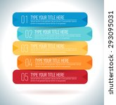 vector modern presentation... | Shutterstock .eps vector #293095031