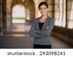confident successful smiling... | Shutterstock . vector #293098241