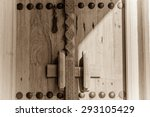 a shadow falls across an... | Shutterstock . vector #293105429