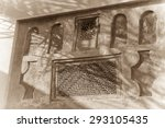 detail of the elaborately... | Shutterstock . vector #293105435
