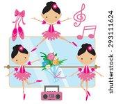 ballerina vector illustration | Shutterstock .eps vector #293111624
