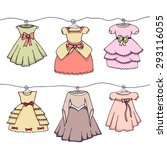 dresses   illustration of six... | Shutterstock .eps vector #293116055