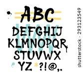 handwritten trendy vector... | Shutterstock .eps vector #293123549