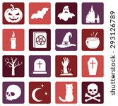 vector set of halloween icons | Shutterstock .eps vector #293126789