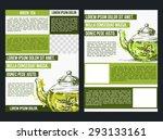 flyer for green tea. | Shutterstock .eps vector #293133161