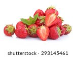 Ripe Strawberries Isolated On...