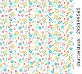 small cute vector flowers... | Shutterstock .eps vector #293149565