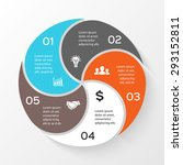 vector circle infographic.... | Shutterstock .eps vector #293152811