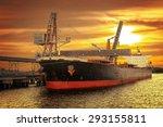 Big Ship Under Loading Coal In...