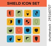 shield safe defense icon set | Shutterstock .eps vector #293160707