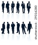vector silhouettes set of... | Shutterstock .eps vector #29316280