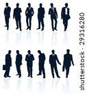 vector silhouettes set of... | Shutterstock .eps vector #29316280