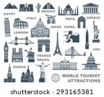 icons world tourist attractions | Shutterstock .eps vector #293165381