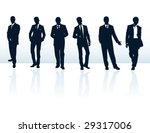 men man suit silhouette...   Shutterstock .eps vector #29317006