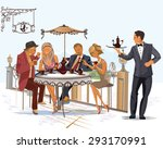 series of fashion people  men... | Shutterstock .eps vector #293170991