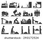 construction earthworks icons... | Shutterstock .eps vector #293172524