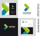 logo design element with two... | Shutterstock .eps vector #293173511