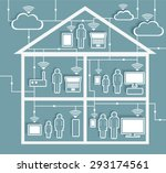wifi internet connectivity... | Shutterstock .eps vector #293174561