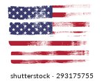 closeup of  american flag in... | Shutterstock . vector #293175755