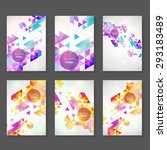 vector abstract triangle... | Shutterstock .eps vector #293183489