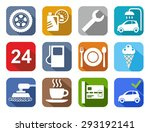 icons car service  car wash ... | Shutterstock .eps vector #293192141