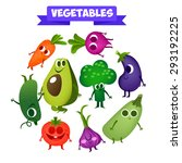 delicious fresh vegetables in a ... | Shutterstock .eps vector #293192225