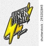 vector illustration  old school ...   Shutterstock .eps vector #293202845