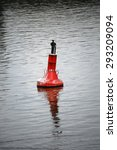 a cormorant sitting on a red... | Shutterstock . vector #293209094