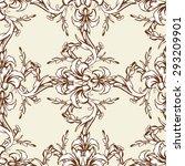 renaissance seamless ornament.... | Shutterstock .eps vector #293209901