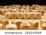 notice word written on wood... | Shutterstock . vector #293214569