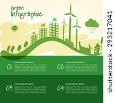 ecological infographic template ... | Shutterstock .eps vector #293217041