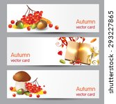 autumn vector cards | Shutterstock .eps vector #293227865