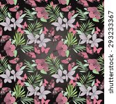 seamless pattern with tropical... | Shutterstock .eps vector #293233367