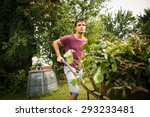 Handsome Young Man Gardening I...