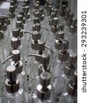 empty pump bottles displayed on ... | Shutterstock . vector #293239301