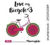 creative bicycle illustration... | Shutterstock .eps vector #293241089