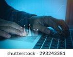 close up of business man hand... | Shutterstock . vector #293243381