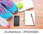 workout and fitness dieting...   Shutterstock . vector #293243681