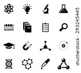 vector black science icon set. | Shutterstock .eps vector #293245445