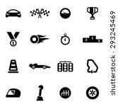 vector black racing icon set. | Shutterstock .eps vector #293245469
